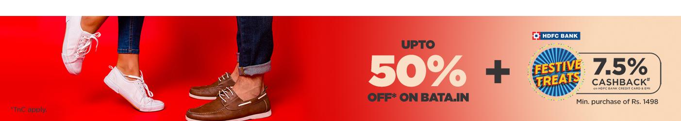 Get Upto 50% off at Bata.in